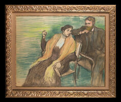 Edgar Degas, 'Portrait de M. et Mme. Louis Rouart', ca. 1904