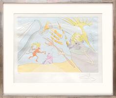 Salvador Dalí, 'L'Elephant et le Singe de Jupiter. (The Elephant and Jupiter's Monkey.)', 1974