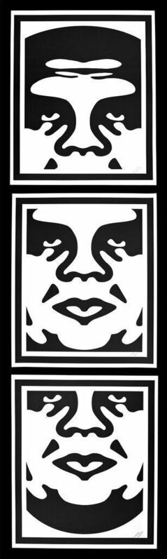 Shepard Fairey, 'Obey 3 Face's ', 2005, Print, 3 offset lithograph prints on thick white paper., New Union Gallery