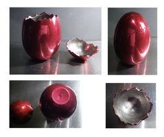 "Jeff Koons, '""Cracked Egg"", BCAM Invitation Egg, with Original Invite/Box', 2006"