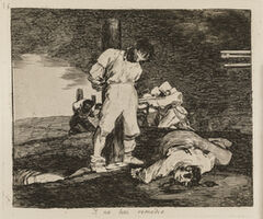 Francisco de Goya, 'And there's no help for it (The Disasters of War, 15)', 1810-1820