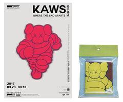 KAWS, 'KAWS- 2 PIECE SET / Exhibition Invite/Poster, Yu Deyao Art Museum Shanghai & Bape-Gallery Japan', 2003 & 2017