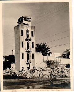 Alfredo Cortina, 'Pláza López. Torre de bomberos', 1953