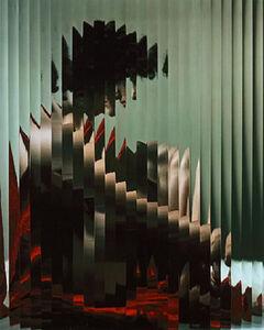 Erwin Blumenfeld, 'Lisette behind fluted glass, New York', ca. 1943