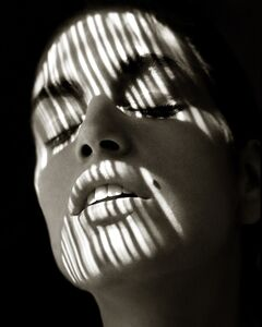 "Albert Watson, '""Cindy Crawford, Blumarine, Shadow""', 1989"