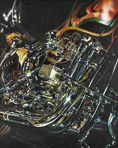 Tom Blackwell, 'Indian's Chopper, Modified '57 Harley', 1971