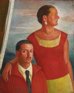 Ángel Zárraga, 'Autorretrato con Jeannette'