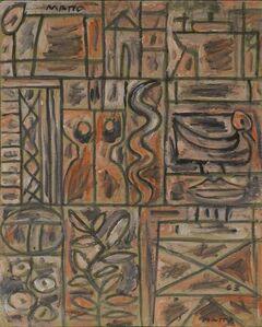 Francisco Matto, 'Constructivo con Mujer y Serpiente', 1963
