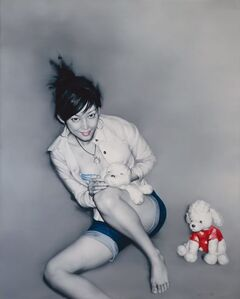 He Sen, 'Girl with Soft Toys '