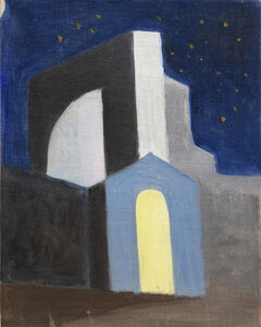 Joseph Stella, 'Church at Nighttime with Starry Sky', Date unknown.