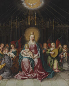 Cornelis de Baellieur I, 'The Virgin and Child Enthroned'