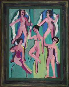 Ernst Ludwig Kirchner, 'Artisten an Ringen (und Trapez) (Artists on Rings (and on Trapeze)) ', 1923/28