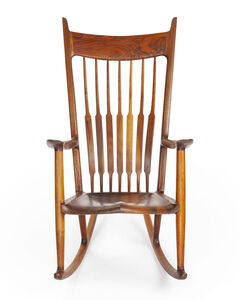 Sam Maloof, 'Spindle-back rocking chair', 1981