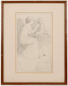 Hubert Wellington, 'The artist's wife and child'