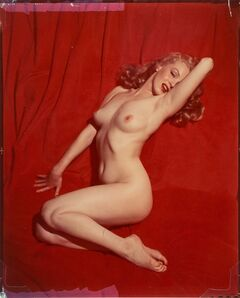 Tom Kelley, 'Marilyn Monroe on Red Velvet, Pose #1', 1949