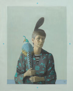 Olga Antonova, 'Self Portrait with Pheasant', 2019