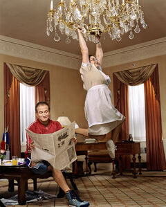 Martin Schoeller, 'Robin Williams with the Hotel Maid', 2002
