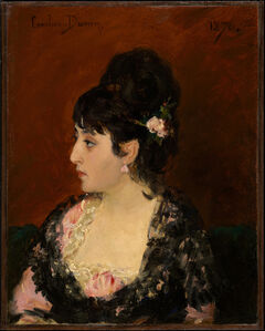 Carolus-Duran, 'Spanish Woman (Portrait of Eva Gonzalès?)', 1876