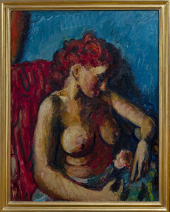 Matthew Smith, 'Nude with a Rose', 1944