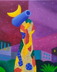 "Philip Stanton, '""Dona i ocell"" de Miró', 2019"