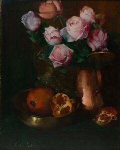 Soren Emil Carlsen, 'Roses in a Copper Jar', 1897