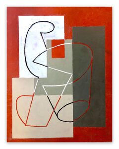 Jeremy Annear, 'Breaking Contour (Red Square) II (Abstract painting)', 2018