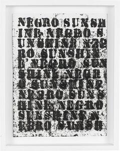 Glenn Ligon, 'Study for Negro Sunshine II, #31', 2011
