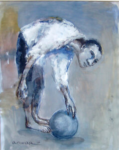 Anwar Abdoullaev, 'Man with a Ball', 2020