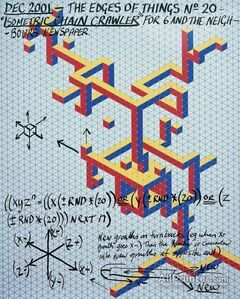 Keith Tyson, 'The Edges of things n.20.Isometric chain crawler, for 6 and the neighbours newspaper. ', 2001