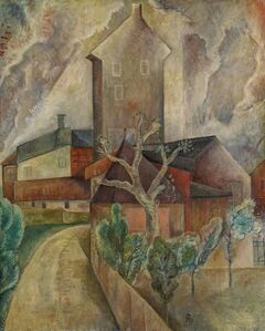 Albert Bloch, 'Clouds and Houses (Häusergruppe)'