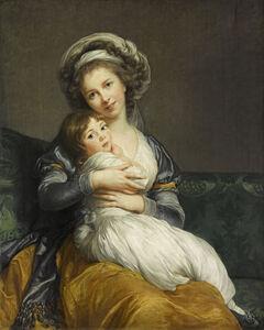 Élisabeth Louise Vigée-Le Brun, 'Self-Portrait with her Daughter, Julie', 1786