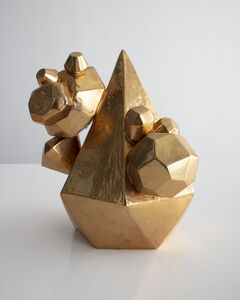 Kelly Lamb, 'Gem Cluster in ceramic with a gold glaze', 2018
