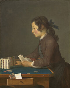 Jean-Siméon Chardin, 'The House of Cards', Probably 1737