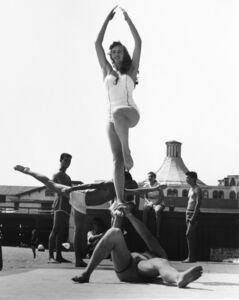 Larry Silver, 'Woman Being Balanced, Muscle Beach, Santa Monica, CA', 1954