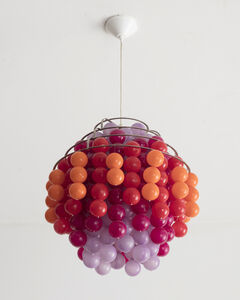 "Verner Panton, '""Fun"" chandelier,  ""Type H,"" in metal and plastic.', 1970-1979"