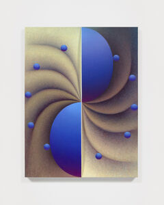 Loie Hollowell, 'Boob Wheel in blue and yellow', 2020