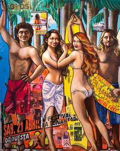 Erin Currier, 'Salvavidas: Surfistas de Mexico (after Botticelli)', 2019