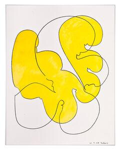 Dietrich Helms, 'Farbstück (gelb)', 2008