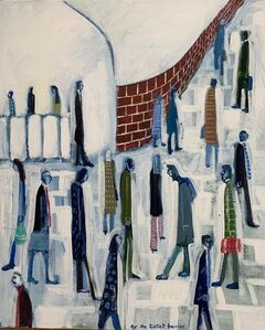 David Fawcett, 'At the ticket barrier', Contemporary