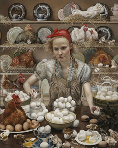 Andrea Kowch, 'Pecking Order ', 2014