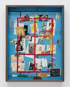 Vik Muniz, 'Letter Rack Hong Kong (Blue) (Handmade)', 2019