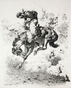 William Robinson Leigh, 'Foul Rope', 1910