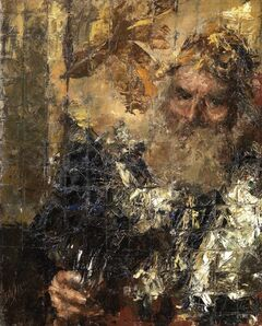 Antonio Mancini, 'PORTRAIT OF AN OLD MAN'