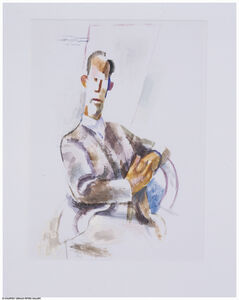 Willard Nash, 'Caricature of a Seated Man'