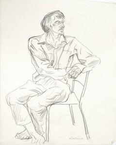 Käthe Strenitz, 'Study of a man seated full-length'