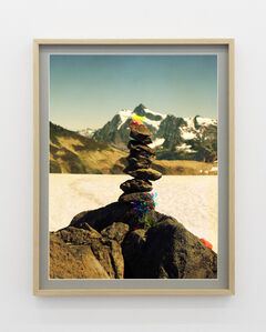 Peter Funch, ' Variation of Cairn on Ptarmigan Ridge with Mt. Shuksan in Background (F)', 2014