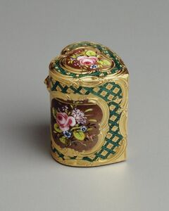 François-Guillaume Tiron, 'Heart-shaped Box with Flowers', 1756-1762