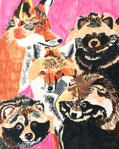 Myasia Dowdell, 'Foxes and Raccoon', 2017