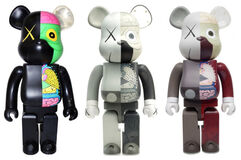 KAWS DISSECTED COMPANION BE@RBRICK 1000% SET OF 3