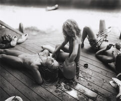 Sally Mann, 'Listening to Madonna by the Tadpole Jar', 1990